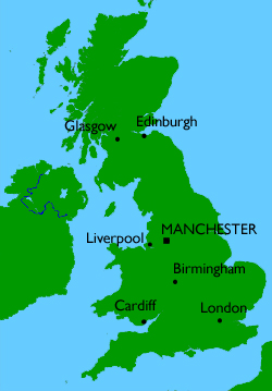 Consolidated in Manchester, England