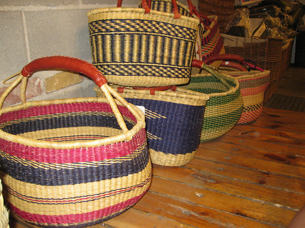 Display of baskets in our store