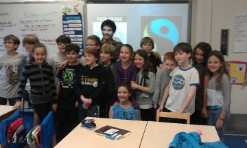 Angelo with Third Grade Class