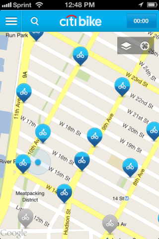 Citi Bike Rental Docks Near CMB