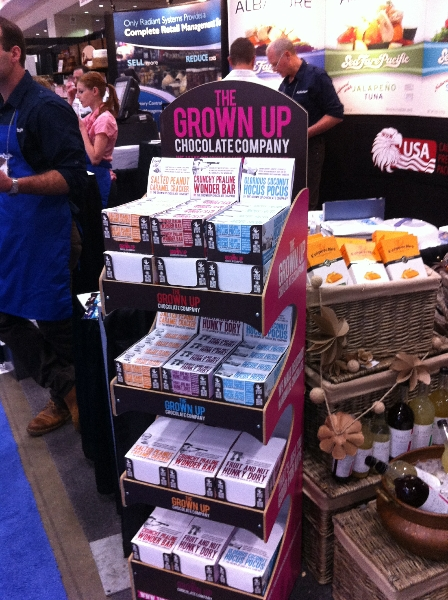 Grown Up Chocolate Co Display