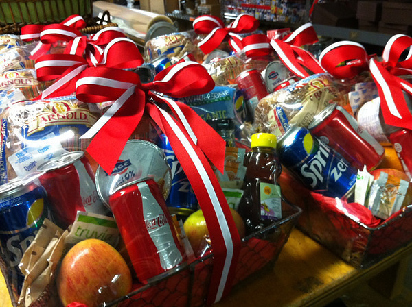snack basket for Coca Cola