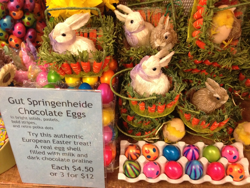 A field guide to easter eggs at chelsea market baskets negle Image collections