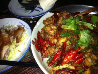 Sichuan Soft Shell Crab and Duck with Sichuan Pepper
