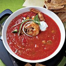 Garden Tomato Gazpacho- Serving Suggestion
