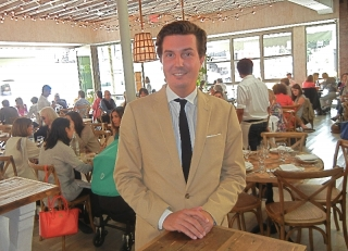 Owner Carlos Suarez in the Dining Room
