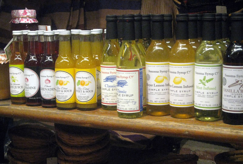 Sonoman Syrup Co Products at Chelsea Market Baskets