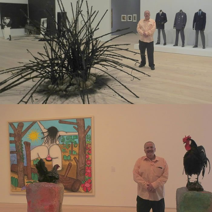 Whitney Museum - Steve Shane  Rachel Harrison and Carroll Dunham and Fred Wilson and David Hammons