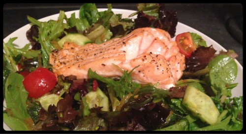 Ton Ton Ginger Salad with Baked Salmon