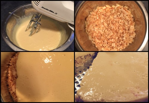 Dang Coconut Key Lime Pie Process