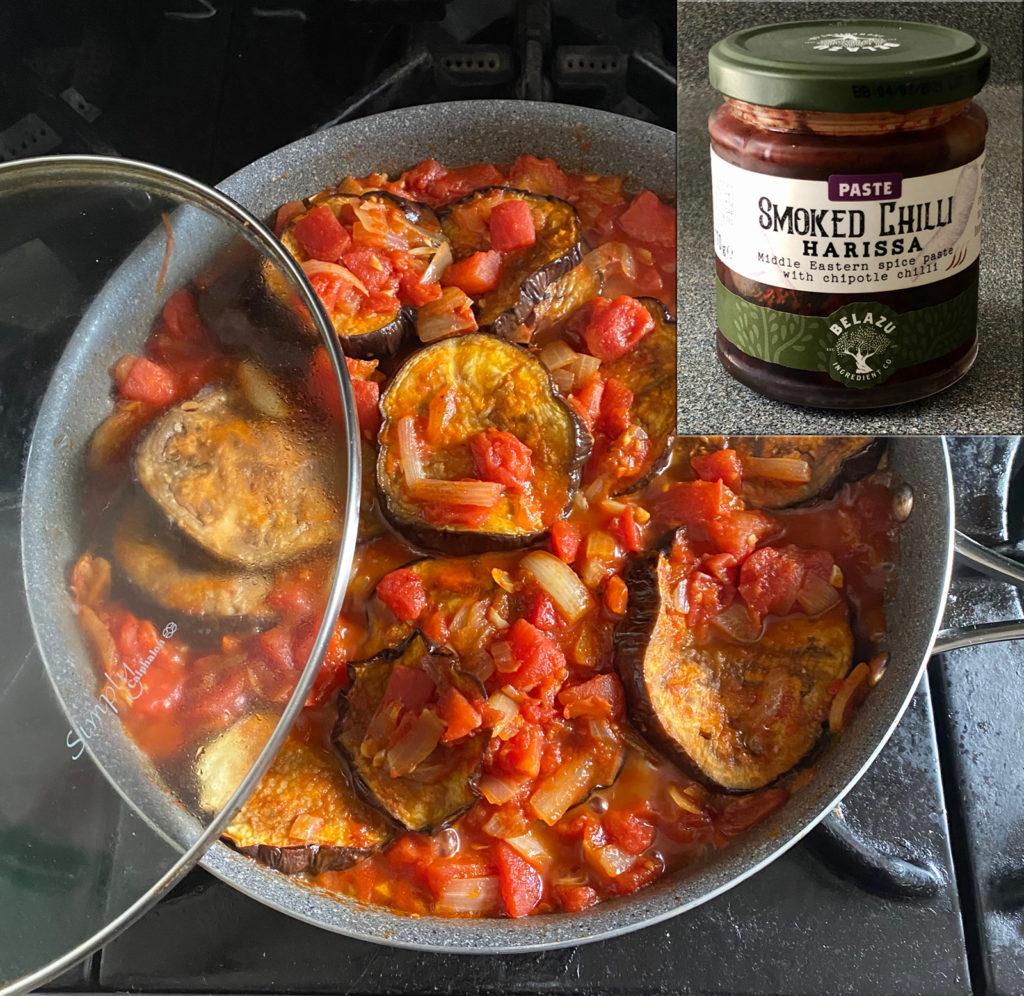 Recipe for Roasted Eggplant Shakshuka with Belazu Smoked Chilli Harissa